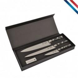 Coffret 3 couteaux de...