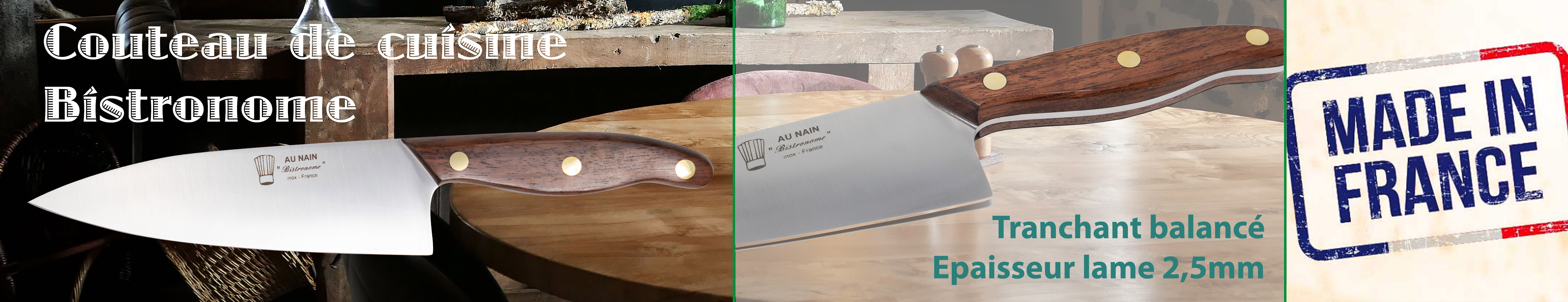 Découvrez le couteau de cuisine Eminceur de la gamme made in France Bistronome